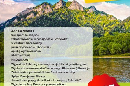 Obóz Sportowo – Rekreacyjny Szczawnica – sierpień 2019